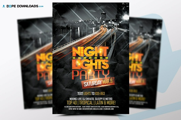 Night Lights Flyer FREE