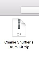 Charlie Shuffler's Drum Kit