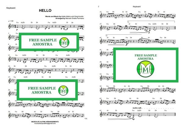 Hello - Adele - Keyboard - Sheet Music Download