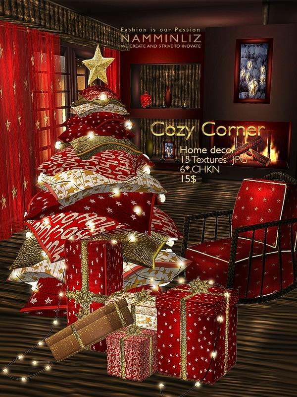 Cozy Corner Home decor 15 Textures JPG NAMMINLIZ filesale imvu
