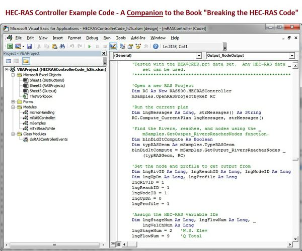 "HECRASController Code-Companion Workbook to ""Breaking the HEC-RAS Code"""