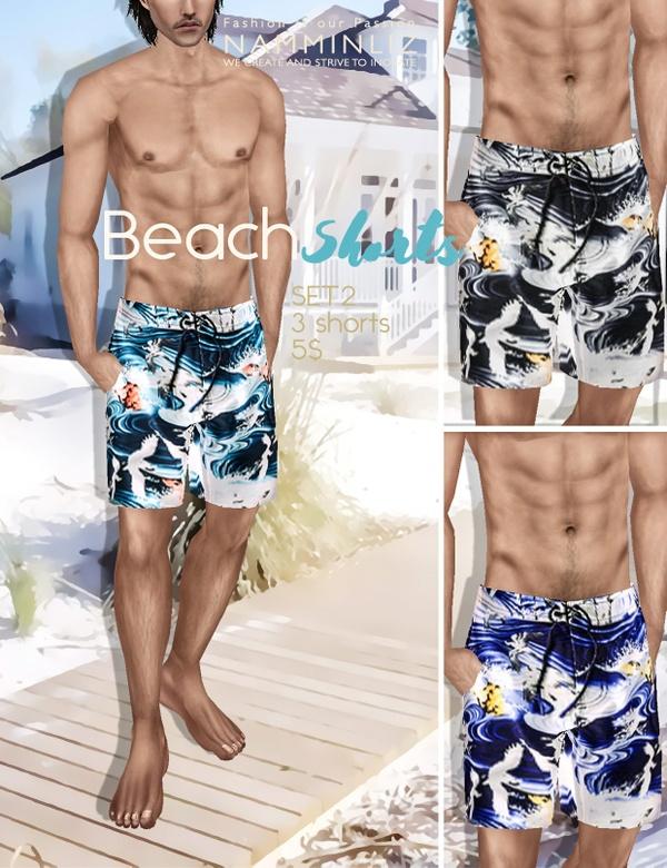 BEACH SHORTS SET 2 imvu PNG
