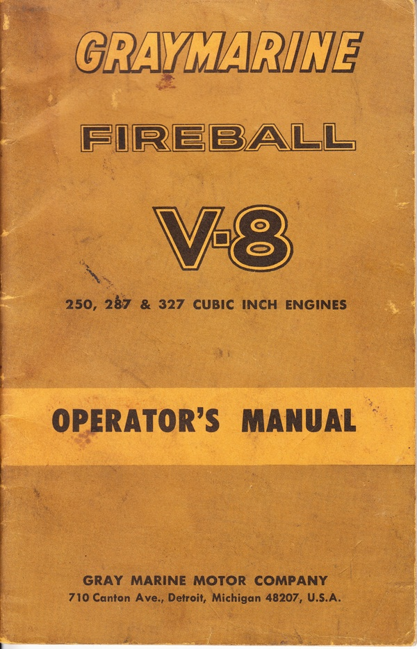 Graymarine Fireball V-8 Operator's Manual