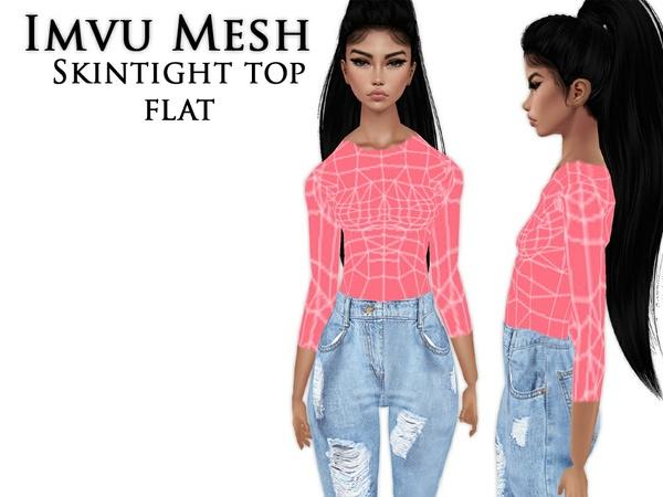 IMVU Mesh - Tops - Skintight Flat