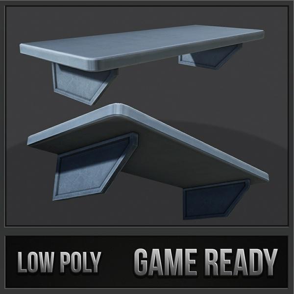 Metal Shelf 01 | 3D Low Poly Model