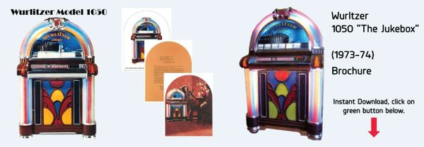 "Wurlitzer Model 1050 ""The Jukebox""   (1973-74)"