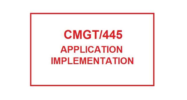 CMGT 445 Week 1 Professional Association Organizations