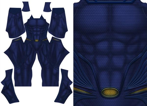 MAN OF STEEL SUPERMAN (no emblem or boots) pattern file