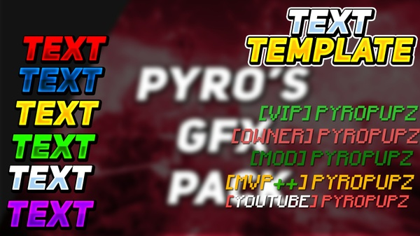 LAYER STYLE PACK v1 (6 different colors) + hypixel ranks