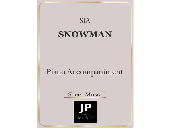 Snowman - Piano Accompaniment