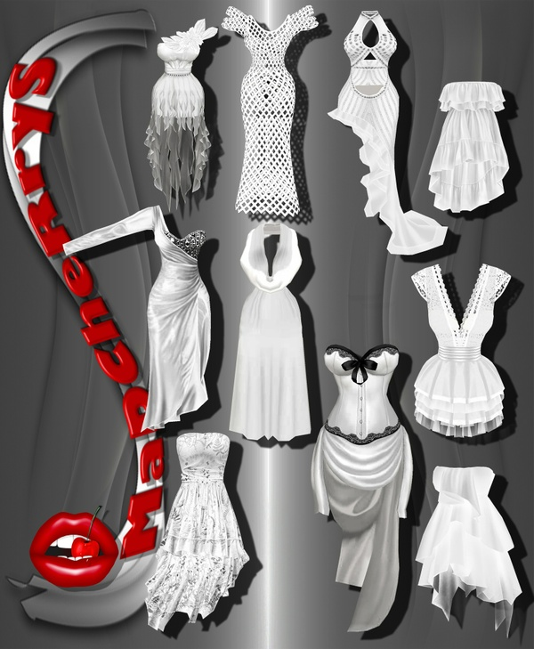 MaD 10 wedding dress +6 shoes+4 acces +5 dress with resell rights!!