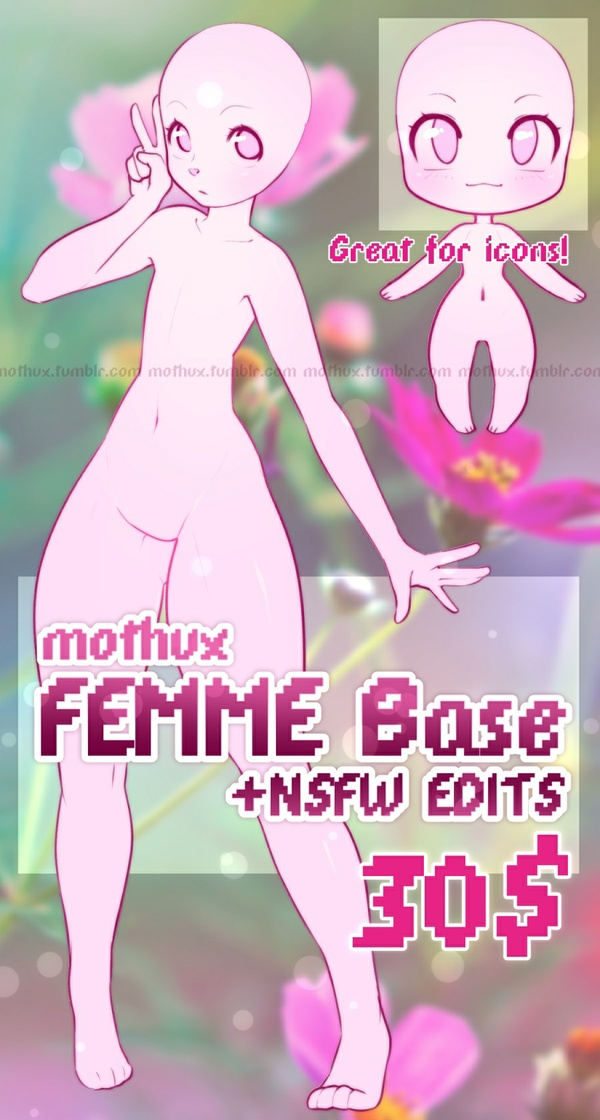 Femme Base by Mothux [+NSFW Edits]