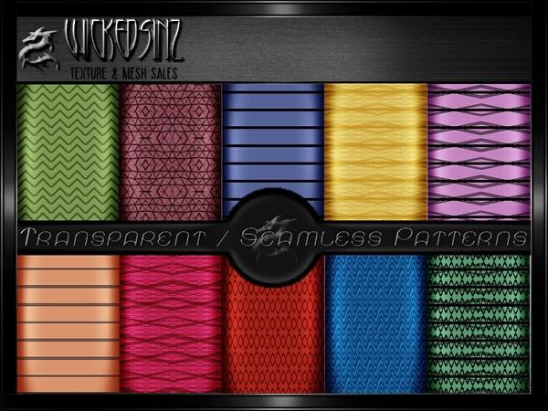GIMP Fabric Patterns Pack 1 - $5 - 17 Transparent/Seamless Patterns