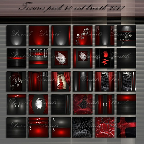 Textures pack 40 Red Breath 2017