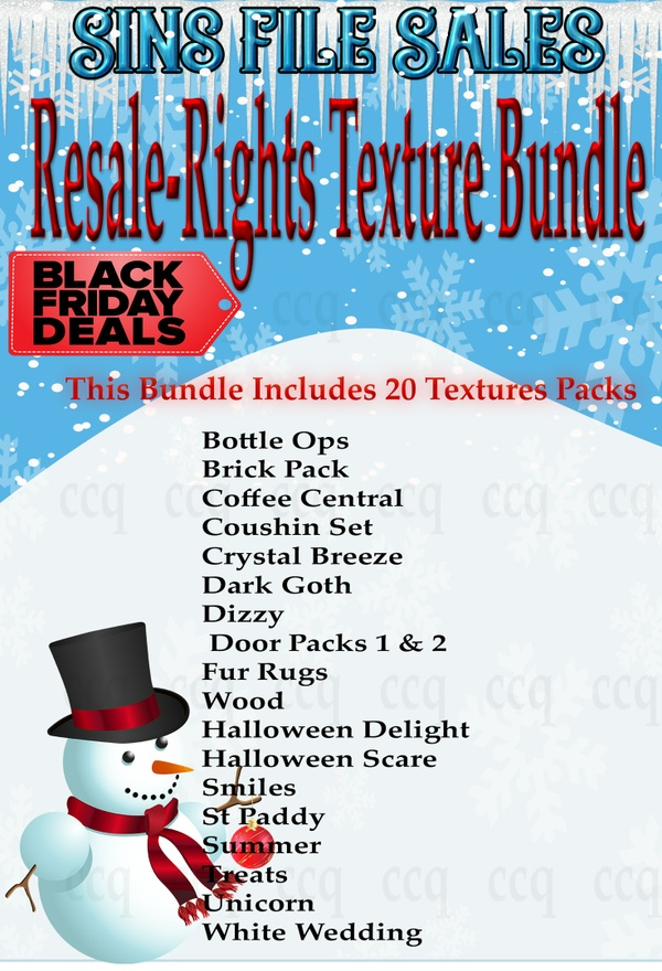 Cyber Monday Special :Resale Right Texture Bundle