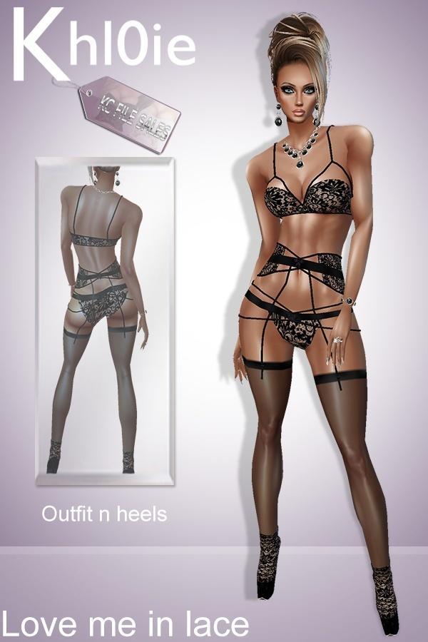 Love me lace lingerie n heels