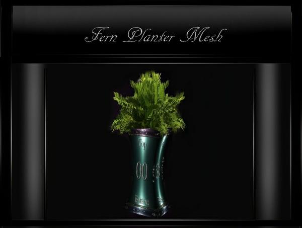 IMVU Furniture Fern Planter Mesh