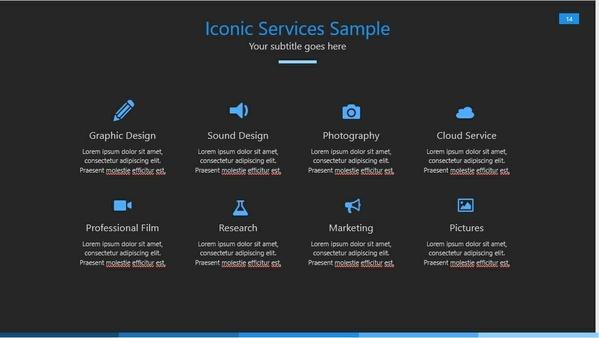 Blue Dark Powerpoint Template (PPT)