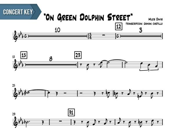 "Miles Davis- ""On Green Dolphin Street"" - Concert Key"