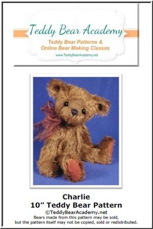 "Charlie - 10"" Jointed Artist Teddy Bear Pattern PDF"