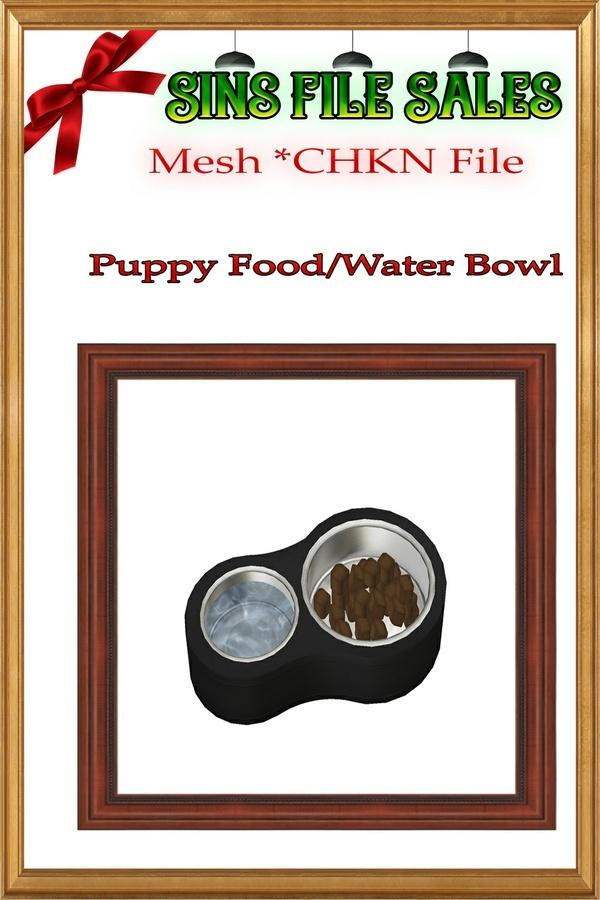 Puppy Food Bowl *CHKN