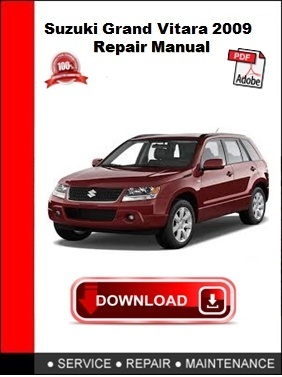 Suzuki Grand Vitara 2009 Repair Manual
