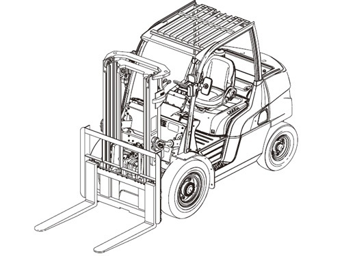 Caterpillar Cat DP60 DP70 lift Trucks Service Manual Download(SN:T20C-10001-up & T20C-60001-up)