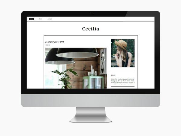 Cecilia - Blogger Theme