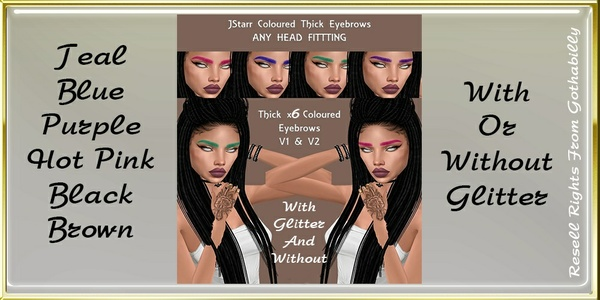 JStarr Eyebrows With And Without Glitter Catty Only!!!!