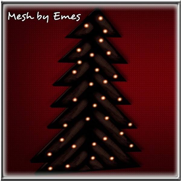 MESH-Wooden Rustic Christmas Tree