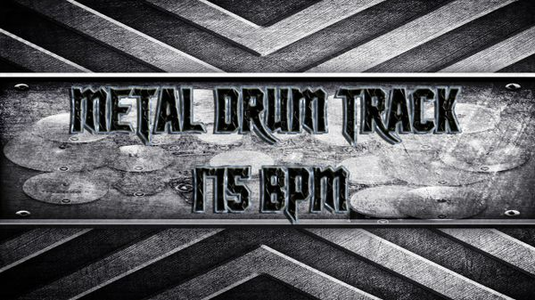 Metal Drum Track 175 BPM