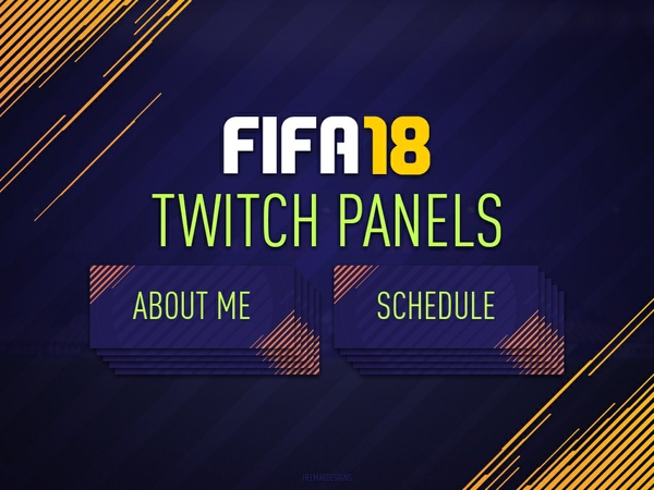 FIFA 18 Customisable Twitch Panels
