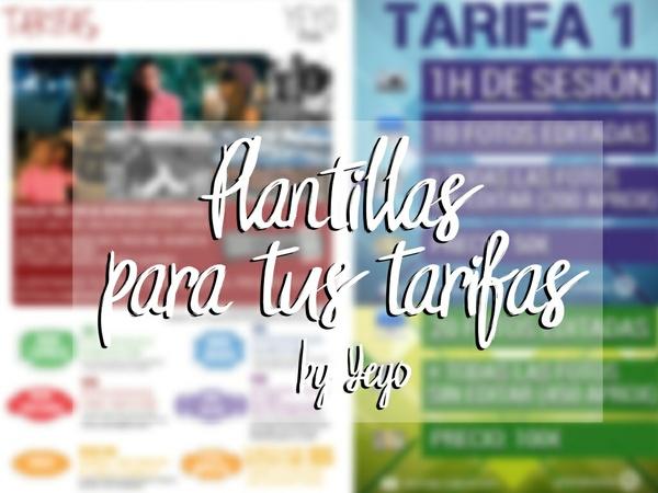 Plantillas para tus tarifas By Yeyo