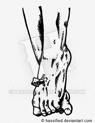 Jesus's Feet - printable, vector, svg, art