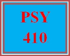 PSY 410 Week 5 Psychological Disorders Presentation