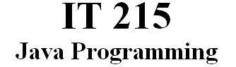 IT 215 Week 1 DQ 1