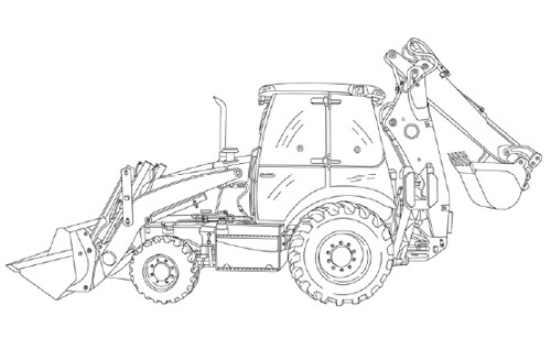 Case 580K Phase 3 LOADER BACKHOE Service Repair Manual