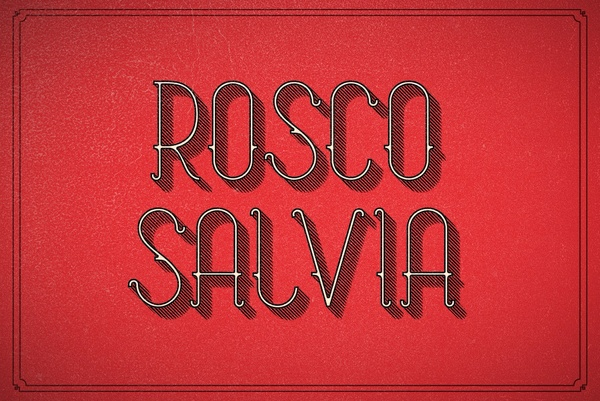 Font: Rosco & Salvia