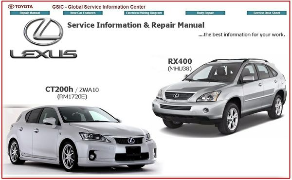 LEXUS RX400 & CT200H GSIC WORKSHOP MANUAL