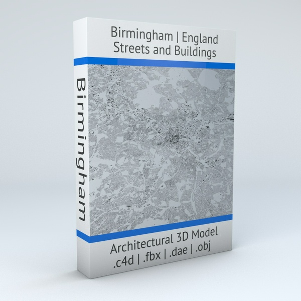 Birmingham Streets and Buildings Architectural 3D Model