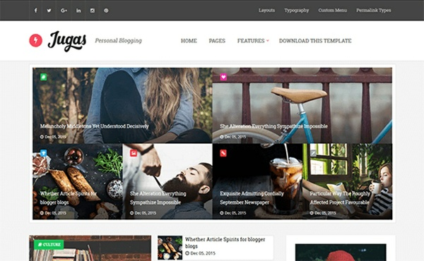 Jugas Blogger Template Premium Version