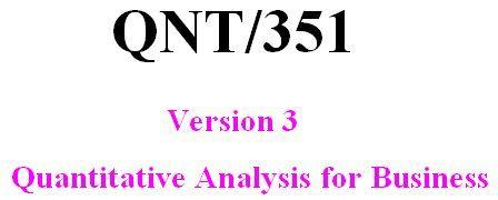 QNT351 Week 2 DQ 1