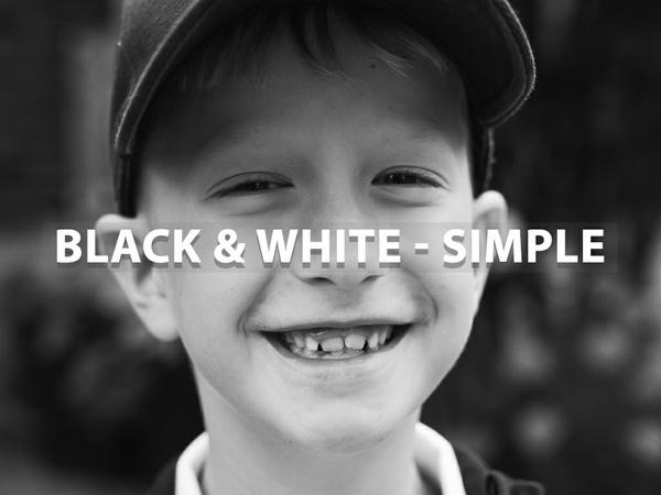 """Black & White - Simple"" - Lightroom Preset"
