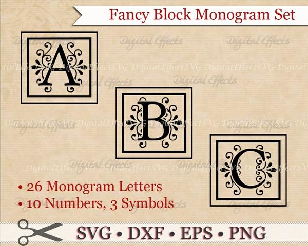 FANCY BLOCK MONOGRAM SVG