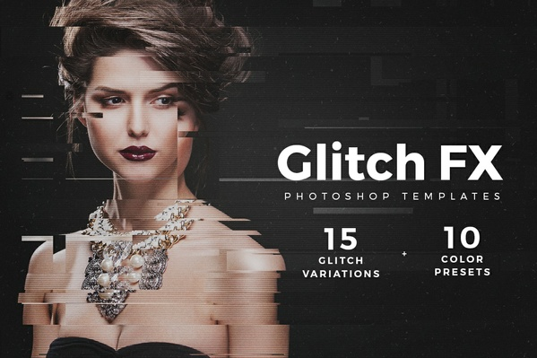 [PSD] Glitch Fx Photo Template