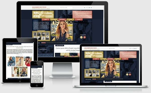Julia Roberts WordPress theme