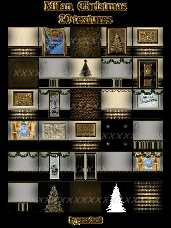 Milan Christmas 30 textures IMVU