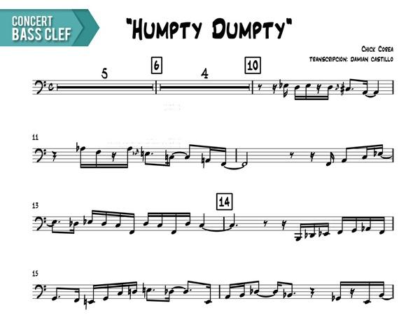 "Chick Corea - ""Humpty Humpty"" - Concert Bass Clef"
