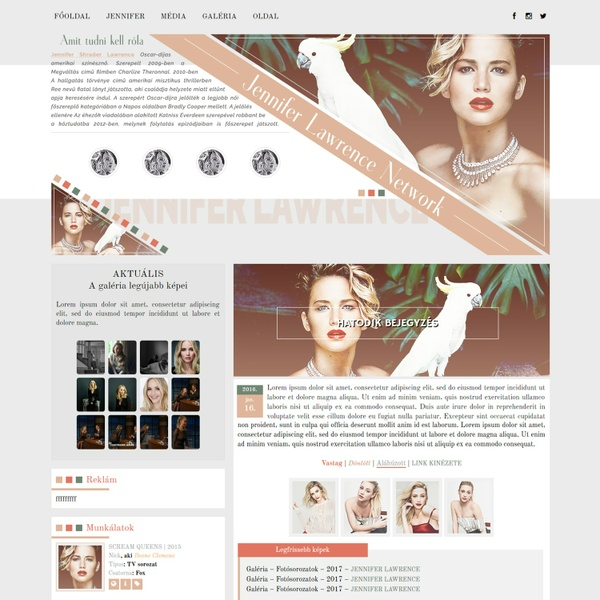 Jennifer Lawrence WordPress Theme