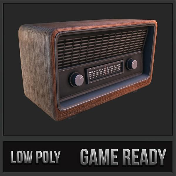 Retro Radio | 3D Low Poly Model
